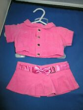 """16"""" Bear clothes - The Bear Factory - Pink cordoroy skirt and jacket"""