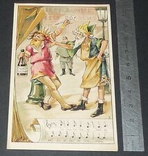 Chromo chocolat de royat 1910-1914 popular song rhyme king dagobert 3