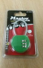 Nuevo Master Lock 4671 dcol Verde combinación de 3 dígitos viaje equipaje bloqueo Libre P&P