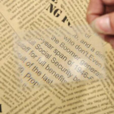 2 Reading Magnifier 3x Magnifying Fresnel Lens Credit Card Size NEW