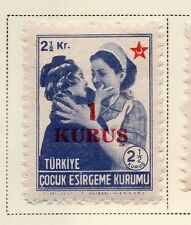 Turkey 1950-52 Early Issue Fine Mint Hinged 1k. Surcharged 085758