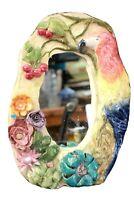 Vintage Art Mirror Parrot Pottery Studio Galley