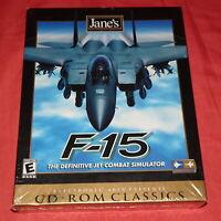 NEW SEALED = JANE'S COMBAT SIMULATIONS = F-15 JET = PC Game = Windows 95 / 98