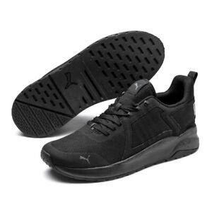 PUMA Anzarun Mens Black Dark Shadow Trainers Training Running Shoes 371131 01