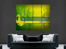 BRAZIL FOOTBALL  WORLD CUP GIANT WALL POSTER ART PICTURE PRINT LARGE