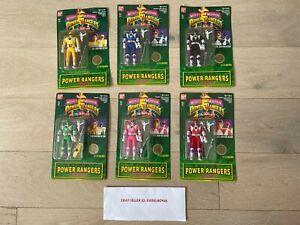 1994 Mighty Morphin Power Rangers Auto Morphin LOT OF 6 NEW Bandai
