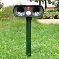 1/2PCS Solar Power Ultrasonic PIR Pest Animal Repeller Garden Cat Scarer Control