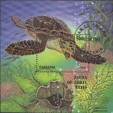 Tanzania Bloque 280 (edición completa) usado 1995 fauna marina