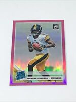 2019 Diontae Johnson Optic Pink Prizm Rated Rookie RC Pittsburgh Steelers