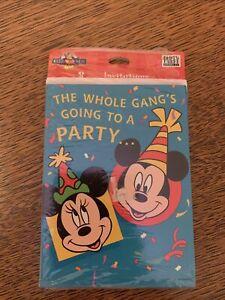 VINTAGE Hallmark Disney Mickey Mouse Kids Birthday Invitations 8 Count
