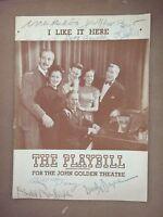 """I Like it Here"" Cast Signed Program -Beverly Bayne/Donald Randolph/Bill Terry"
