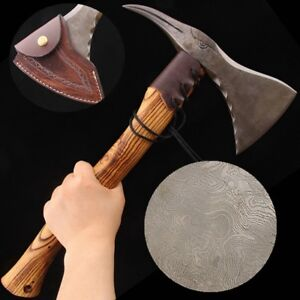 Bird Head Axe Traditional Hatchet Traditional Hand Forged Damascus Steel #0438