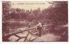 saint-omer jardin public  pont rustique