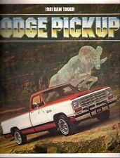 Dodge Pick-up 1981 USA MARKET sales brochure D150 D250 D350 W150 W250 W350 W450