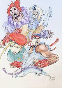 Fan art,original drawing markers,Artwork,Superhero,comics,game,Street Fighter