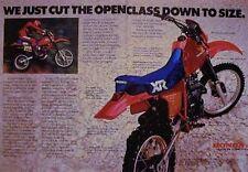HONDA XR350R XR-350 R 2 Page Motorcycle Ad 1983 XR 350