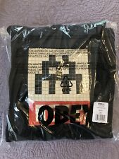 OBEY Clothing x INVADER Pullover Hood Hoodie Size S Small Paris Black Sweatshirt