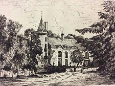Château de Fromentière Abraham Tancrède Château-Gontier Mayenne estampe 1872