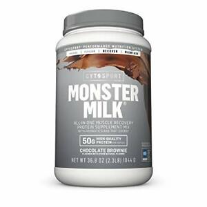 CYTOSPORT Monster Milk Recovery Protein Supplement Mix, Choco Brownie, 2.3 lbs