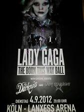Lady Gaga 2012 A0 119cm Köln Konzert Plakat Concert Tour Poster