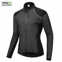 WOSAWE Winter Long Sleeved Cycling Jacket Thermal Fleece Bike Jersey Bicycle Men