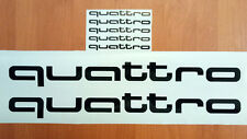 quattro AUDI SRT Car Racing Sport Die Cut Decals Sticker Vinyl Emblem Logo 010b