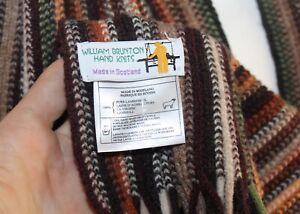 Willian Brunton SCOTLAND UK Hand Knit FIBER ARTIST Art-to-Wear BROWNS Wool