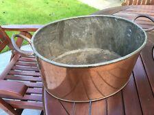 More details for vintage copper kitchen cooking pan or planter pot for flowers & plants