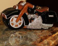 TIMMY WOODS HAND CARVED SWAROVSKI CRYSTAL HARLEY MOTORCYCLE CLUTCH SHOULDER BAG