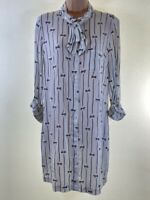 BNWOT COOPERATIVE @ URBAN OUTFITTERS ivory white bow print shirt dress size M 12