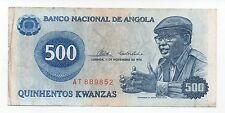 ANGOLA 500 KWANZAS 1976 PICK 112 LOOK SCANS