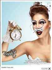 Xotic Eyes White Rabbit Costume Crystal Glitter Theatrical Make Up Face Tattoo