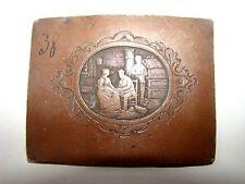 plaque en cuivre gravée époque XIX ème