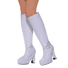 Go Go Boot Tops Covers White Red Pink Black 80s Fancy Dress