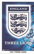 THREE LIONS LOGO ENGLAND Original Starline Poster MINI Promo Piece 3x5