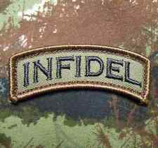 INFIDEL TAB USA ARMY ROCKER MILITARY BADGE FOREST  VELCRO® BRAND FASTENER. PATCH