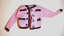 Barbie Fashion Pink Short Jacket For Barbie Dolls fn032