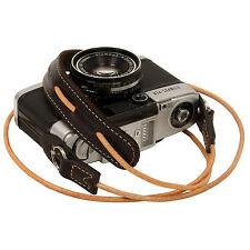 Choco leather cord neck strap for RF film Digital camera NEX E-P X10 Nikon Leica
