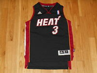 ADIDAS REV30 DWYANE WADE BLACK ROAD MIAMI HEAT YOUTH NBA TEAM SWINGMAN JERSEY Sm