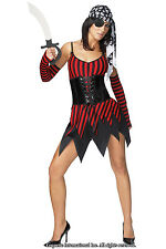 Sexy Adult Halloween Woman's Pirate Buccaneer Costume w Sword Size M/L