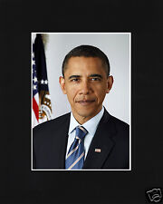 President Barack Obama Black Matted Photo Picture #b1
