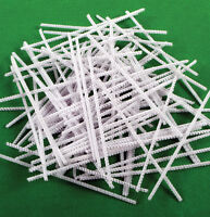 White Pipe Cleaners Chenille Stems 6 Inches x 4mm Crafts 15cm x 100