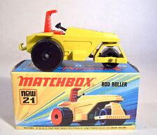 Matchbox SF Nr.21B Rod Roller schwarze Heckrollen top in Box