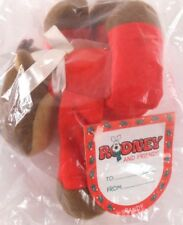 Hallmark Randy Reindeer Plush Stuffed Toy Vtg 80s Holiday Christmas Tag Sealed