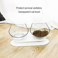 Food Bowl With Stand 15° Elevated Pet Cat Dog Water Bowl Detachable Feeding Home