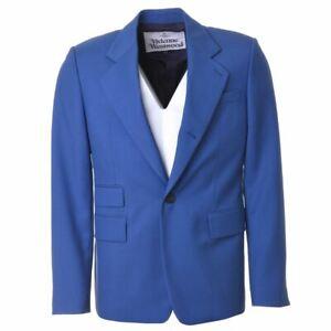 VIVIENNE WESTWOOD Jacket Blue Wool Size 52 BR 281