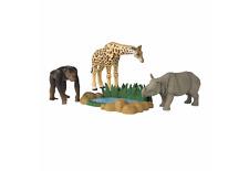 ANIA Safari Quest: Giraffe, Rhinoceros, Chimpanzee and Watering Hole