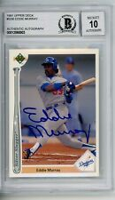 Eddie Murray 1991 Upper Deck Signed Autographed Card Beckett BAS Graded 10