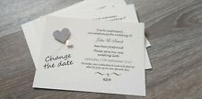 12 Change the date / Change the venue wedding postponed invitation cards
