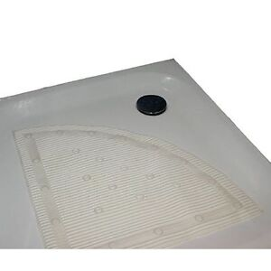 Stay Put White Anti Microbial Anti Slip Corner Quadrant Shower Mat 60x60cm